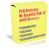 Thumbnail Buy PLR Articles Hi-Quality Pack 12 with Bonus