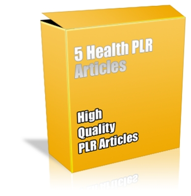 Product picture Buy PLR Articles - 5 Health *High Quality* Articles