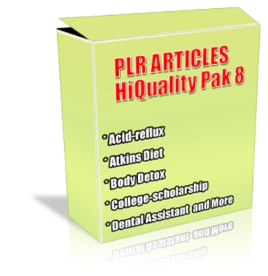 Product picture Buy PLR Articles Hi-Quality Pack 8 with Bonus