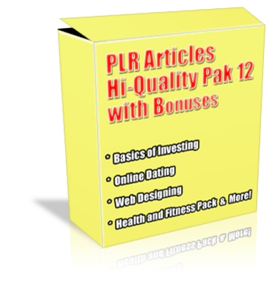 Product picture Buy PLR Articles Hi-Quality Pack 12 with Bonus