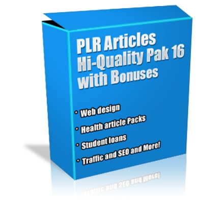 Product picture Buy PLR Articles Hi-Quality Pack 16 with Bonus